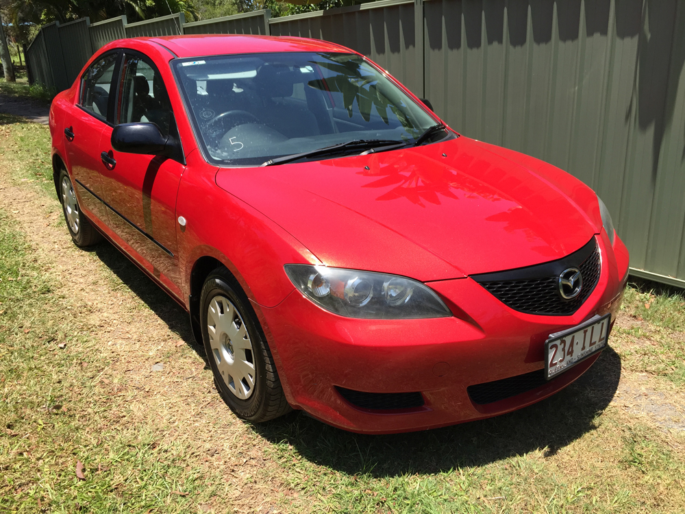 sold 2004 mazda 3 bk neo red 5 speed manual sedan used vehicle sales. Black Bedroom Furniture Sets. Home Design Ideas
